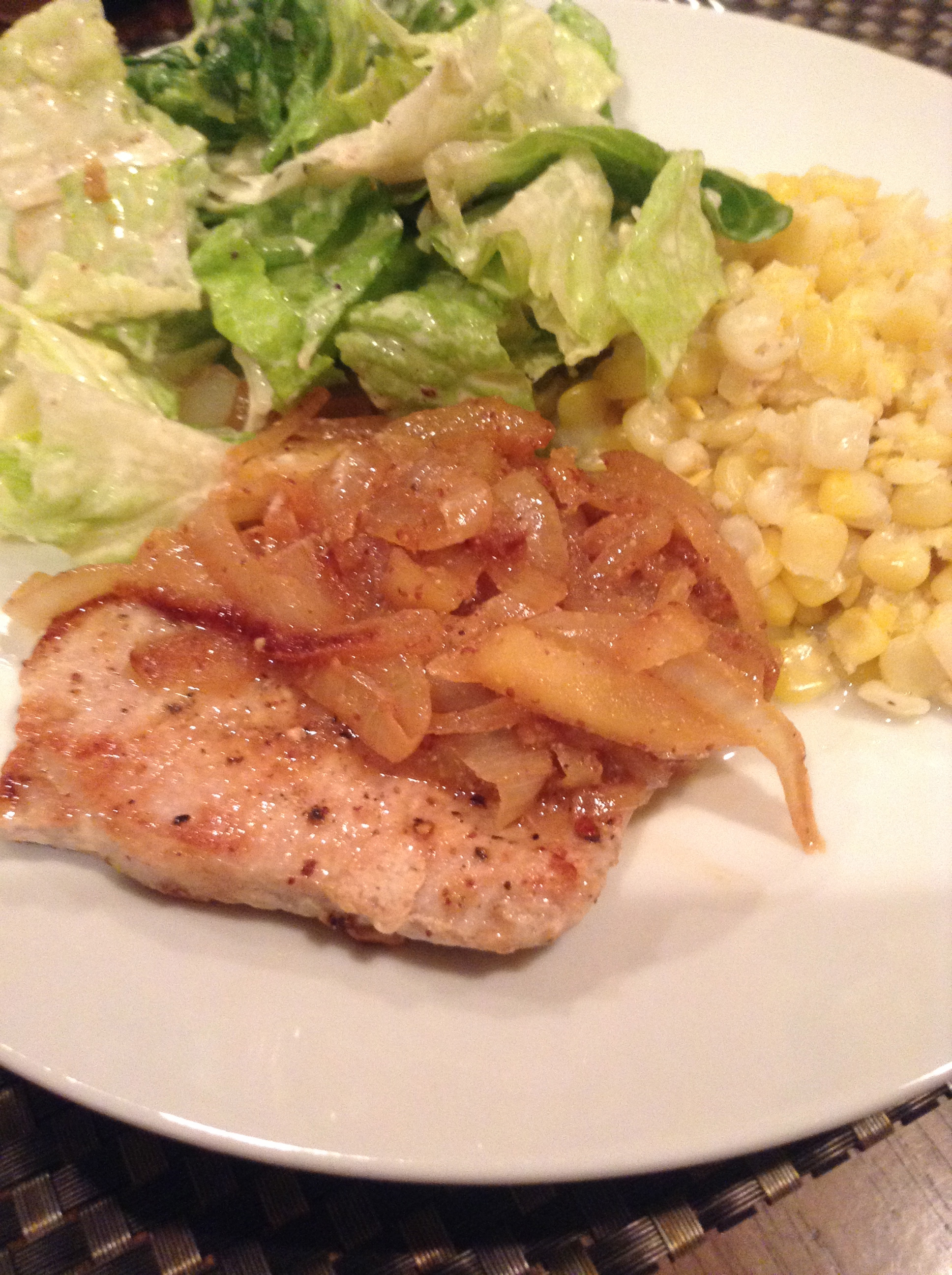 Mustardy-Apple Pork Chops – Dinner for a Monday