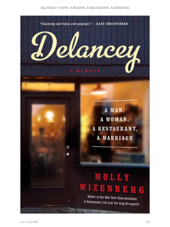 Book Review – Delancey: A Man, a Woman, a Restaurant, a Marriage