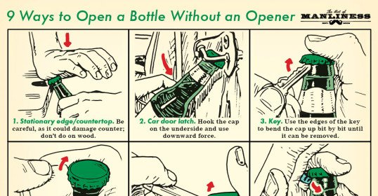 How to Open a Bottle Without an Opener | The Art of Manliness